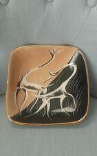 Vecchia ceramica piatto dipinta a mano stile Lenci Ronzan Girardi Tosin Lagorio