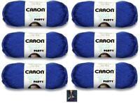 Yarnspirations Caron Simply Soft Party Yarn 6-Pack Royal Sparkle Blue CHOP