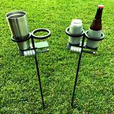 Skolders™ Ground Stakes - Set of 2 | Outdoor Game Score Keeper & Drink Holder