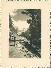 France, Le Mont-Viso  Vintage silver print Tirage argentique  8,5x11,5