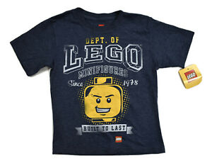 Lego Youth Department of Minifigures Built to Last Shirt NWT Size 5-6