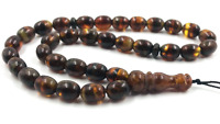 Islamic 33 Prayer Beads Natural Baltic Amber Rosary pressed tasbih  15.07gr.