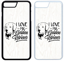I Love My Golden Retriever Phone Case Cover iPhone 4 5 6 7 8 X XR XS Max Plus