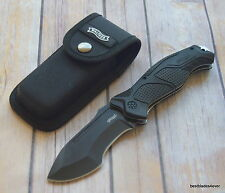 "9.5"" OVERALL WALTHER OUTDOOR SURVIVAL LINERLOCK FOLDING KNIFE WITH POCKET CLIP"