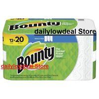 Bounty Select-A-Size Paper Towels, White, 12 MEGA Rolls = 20 Regular Rolls