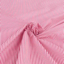 Telas y tejidos rojos de cortinas de rayas