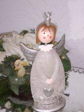 Ángel de la Navidad Metal 18cm Figura Decoración Shabby Chic