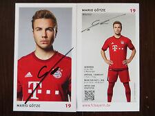 Handsignierte AK Autogrammkarte *MARIO GÖTZE* FC Bayern München 15/16 2015/2016