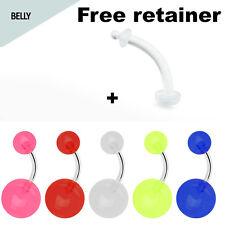 Belly Button Ring 6pcs Set Glow in the Dark Best Price Belly Piercing Set