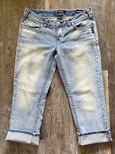Silver Jeans, Aiko Super Stretch Capri Denim, Size 30