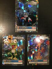 3 Digimon Card Animated Series II (Jap/English misprint) Gekomon Yademon Demidev