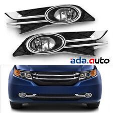 Fit 2014 2015 2016 Honda Odyssey Bumper Fog Lights+Switch+Bracket+Wiring Harness