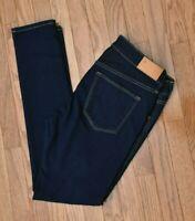 &Denim Women's Jeans Skinny Fit Dark Wash Low Rise Stretch Size 31/32