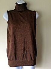 JOSEPH A Women's Size Small Turtle Neck Bronze Color Pull Over Sweater NWT $48