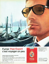 PUBLICITE ADVERTISING 026  1962  Peer Export  cigarettes  canaux à Venise