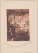 Under the Canopy, by Louis Icart, original 1946 erotic etching on Japon paper