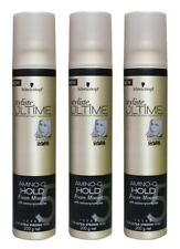 3 x SCHWARZKOPF 200g STYLISTE ULTIME AMINO-Q HOLD FOAM MOUSSE FOR ULTRA STRONG