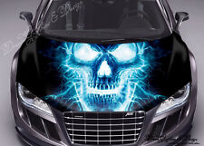 Abstract Skull Hood Full Color Graphic Wrap Decal Vinyl Sticker Fit any Car #109