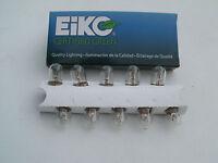 Eiko #47 bulb, box of 10, tube amp pilot light bulbs, nickel plate brass base