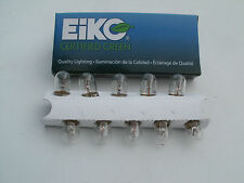 Eiko #47 bulb, box of 10, tube amp pilot light bulbs, nickel plate brass base