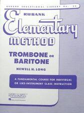Rubank Elementary Method Trombone Or Baritone ( Rubank Educational Library )