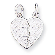 Brand New Sterling Silver I Love You 2-piece Break Apart Heart Charm