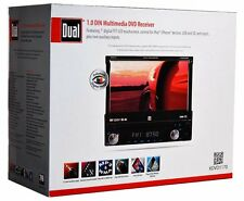 "DUAL XDVD1170 7"" Single Din Touchscreen DVD/IPOD/CD/MP​3 USB/ AM/ FM Car Radio"