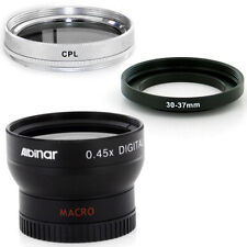 Albinar 30mm Wide Angle Lens, CPL Filter for SONY DCR-HC38 DCR-HC48 VF-R30NKX