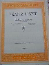 Franz Liszt Waldesrauschen Konzert Etüde A.Schmid-Lindner Klavier Noten Schott