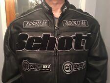 Schott NYC Leather Racing/Motorcycle Jacket Size XL