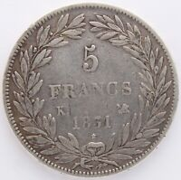 FRANCE 5 FRANCS LOUIS PHILIPPE 1831 K