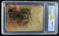 1998 BLEACHERS 23KT GOLD KISS PSYCHO CIRCUS ALBUM COVER WCG 10 GEM MINT SER. #D