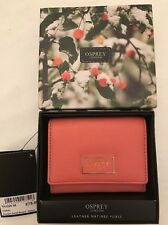 BNIB Osprey Coral Imogen Small Leather Purse. RRP £75 Gift Idea!