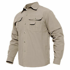 Removable Men's Tactical Long Sleeve Outdoor Sport Shirt Skin Protection Tops