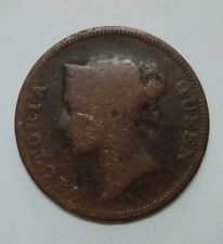 Straits Settlements East India Company 1845 Queen Victoria One Cent Old Coin