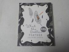Papertrey Ink What The Doodle Feather Coloring Sheets 4.25X5.5 18 Pcs A4036