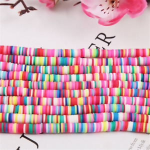 4mm/6mm/8mm/10mm 40cm Handmade Polymer Clay Beads Disk Spacer Loose Beads