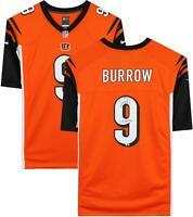 "Joe Burrow Cincinnati Bengals Signed Nike Orange Game Jersey & ""#1 PICK"" Insc"