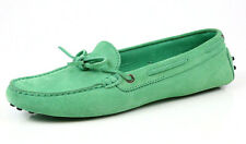 Tod's Women's Green Heaven Laccetto Scooby Doo Suede Loafers Size 41