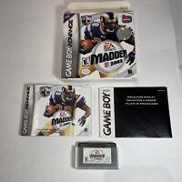Madden NFL 2003 Nintendo Game Boy Advance GBA CIB Complete