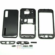 New Full Housing Keypad + Faceplate + Cover For Samsung Tocco S5230 Black