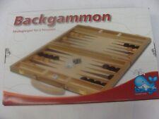 Beluga Backgammon 38cm Gummibaumholz Klappbar 30714