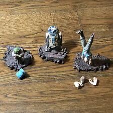Star Wars Dagobah Luke Skywalker Yoda and R2D2 Original Triology 2004
