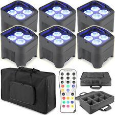 Bundle 6 Beamz. Bbp94 Uplight Akku LED Par 4x 10 watt Rgbwa-uv Soft Case