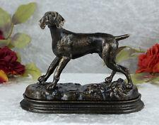 Eisenfigur Hund Jagdhund Skulptur Figur Tierfigur Statue Deko Gusseisen