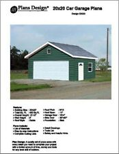 20' X 20' Car Garage Project Plans, Material List Included - Design #52020