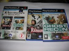 TOM  CLANCY'S  ACTION PACK - RAINBOW SIX 3 - GHOST RECON ( PS2 )  X PLAYSTATION2