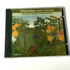 Heitor Villa-Lobos – Music For Flute (CD 1989) NEW – William Bennett And Friends