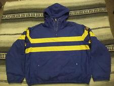 VTG 90s Polo Ralph Lauren Fleece Lined Cookie Patch Cotton Pullover Jacket L V01