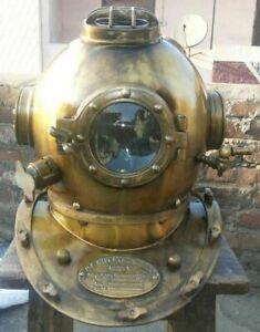 Antique Diving Scuba Helmet US Navy Mark V Marine Vintage Divers Helmet Replica